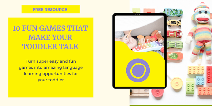 Language development through play with these 'fun games that make your toddler talk'.