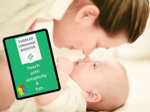 Boost your toddler's language skills easily with naturel methods with this Toddler Language Booster